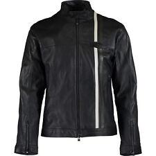 """JAGUAR Heritage Men's Black Leather Biker Jacket, size XS  [35""""-37"""" chest]"""
