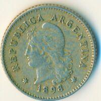 COIN / ARGENTINA / 10 CENTAVOS 1898  #WT7358