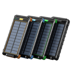Multifunctional Waterproof SolarMobile PowerCompass Outdoor Super Fast PowerBank