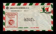 DR JIM STAMPS MEXICO CITY NEW YORK CITY AIRMAIL FIRST FLIGHT COVER