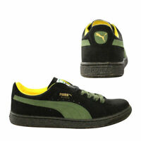 Puma Re-Suede Mens Trainers Lace Up Low Top Shoes Black Olive 353486 08 B82D