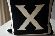 JONATHAN ADLER LETTER X  REVERSIBLE WOOL PILLOW / CUSHION THROW