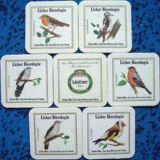 Bierdeckel Serie Sammlung Lich Hessen Licher Bierologie - Vögel komplett  1985