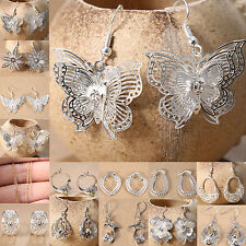 Woman Fashion Jewelry 925 Silver Elegant Ear Stud Dangle Earrings Long Chain
