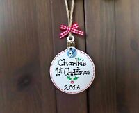 Personalised Pet Christmas Tree Decoration Dog Cat Xmas Plaque Gift Present