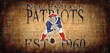 "NEW England Patriots Retro Throwback Established 1960 Wood Sign - NEW 12"" x 6"""