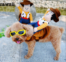 New Funny Costume Doll Rider For Pet Dog Clothes Small Dog Cosplay Casual Clothe