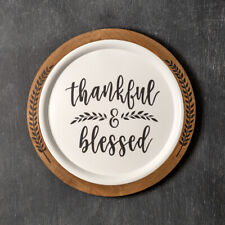 Thankful & Blessed new large Wall Plaque