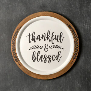 Thankful & Blessed new Large Round Wall Plaque