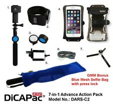DICAPAC Action 7-in-1 DARS-C2 Waterproof Case Selfie for Galaxy Iphone upto 5.7""