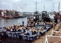 8x6 Gloss Photo ww1AA Normandy UK Weymouth LCI L'844 97 LCH 87