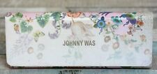 JOHNNY WAS WHITE FLORAL BUTTERFLY FOLDABLE SUNGLASSES EYEGLASSES CASE HOLDER