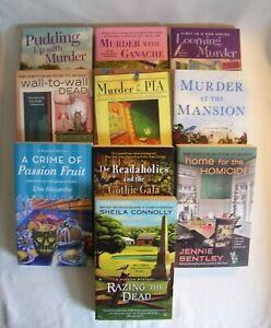 10 BRAND NEW Cozy Mysteries Connolly, Buckley, Alexander, Burdette, etc. NEW!