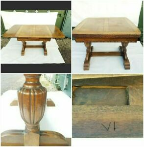 MASSIVE Antique Extending Carved Dinning Table Victorian (VI)Jacobean Revival