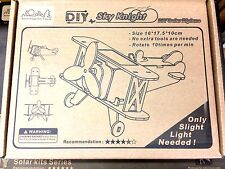 DIY Do-It-Yourself Solar Cell Kits Biplane Sky Knight Only Slight Light Needed