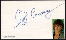 Jeff Conaway signed vintage 5x3 index card / autograph Grease Taxi Babylon 5