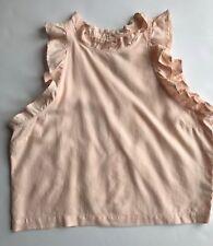 6e6da70ee7d NEW CLOTH   STONE SzM RUFFLE DETAIL HALTER SLEEVELESS CROP TANK TOP PEACH