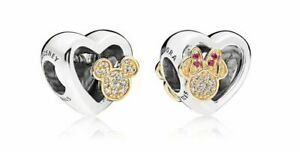 AUTHENTIC NEW PANDORA 2017 LE MINNIE MICKEY LOVE ICONS CHARM B800647 and CLUTCH