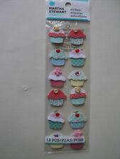 Martha Stewart Cosido Cupcake Pegatinas BNIP * Para ver *