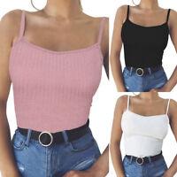 Fashion Women Sexy Sleeveless Tank Camisole Crop Tops Vest Halter Blouse T-Shirt