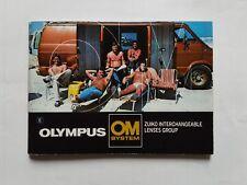 Olympus OM lens system original printed instruction manual 1982, English