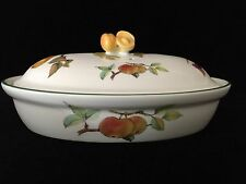 "Royal Worcester Evesham Vale Fine English China Oval Casserole, 10 1/2"" x 7"""