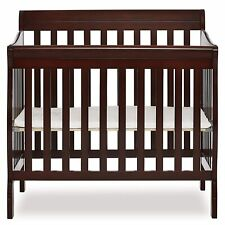 New ListingAden Espresso 4-in-1 Convertible Mini Crib Daybed Twin Size Bed Baby Toddler