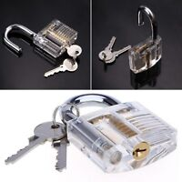 Locksmith Transparent Visable Cutaway Practice Padlock Lock training