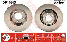 TRW Disco de freno (x1) 350mm ventilado VOLKSWAGEN TOUAREG BMW Serie 3 DF4764S