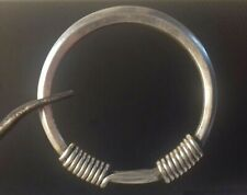 RARE Viking Norse Simple Twisted Handle SILVER Bracelet Circa 800-1200AD Century