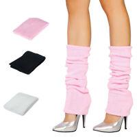 Ladies Girls Teen 80s Dance Rave Party Fancy Dress Ribbed Leg Warmers Legwarmers