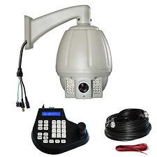 CCTV 700TVL 18X zoom PTZ Outdoor IR Dome Camera Joystick Controller Cable Kit