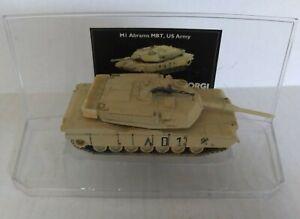 Corgi M1 Abrams Tank US Army Desert Storm Military Tank Desert Tan Color 1/72
