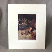 1880 Antico Religioso Stampa King David E Saul Accappatoio Vittoriano