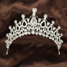Deluxe Rhinestone Crystal Tiara Crown Wedding Bridal Pageant Prom Hair Jewelry