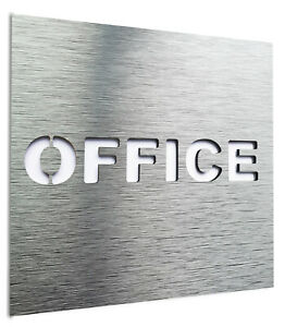 Aluminium Office Door sign - Private Wall Plaque - Employees Staff Only signage