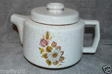 "Vintage Blue Mountain Pottery (Country Rose Pattern)  White 6"" TEA POT Used"