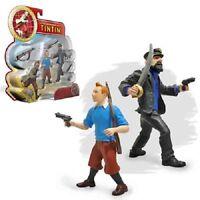 TINTIN MOVIE KUIFJE  Pack 2 Figurines TINTIN & HADDOCK 10 cm PLASTOY