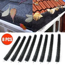 8PCS 100mm x 8M Long Hedgehog Gutter Brush Guard Protector Filter Leaf Twigs AU