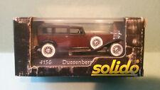 Solido 1:43  Duesenberg J  n° 4156    neuf en boite