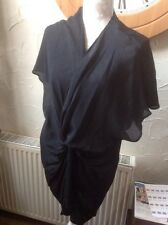 👀👚***M & S COLLECTION 👀 S BLACK TUNIC 👚 Top Xmas Party/cruise-new!