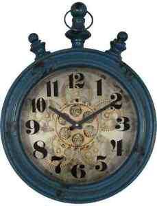 Metal Oval 46.5 Cm Bassett 1922 Viginia Gear Wall Clock