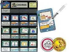 Neatlings Chore Chart System | 1 Child | 80+ Chores | Teal & Dark Blue Cards