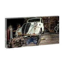 Autowerkstatt - Bild auf Leinwand Keilrahmen Poster Wandbild XXL 80 cm*40 cm 111
