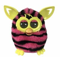 2012 Hasbro Furby Boom Pink and Black Stripes Interactive Toy - Working Kids