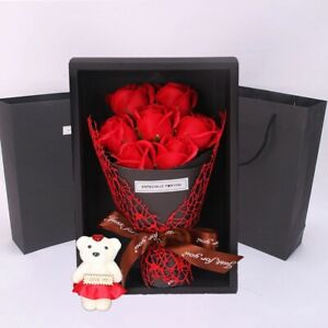 Artificial Rose Flower Bouquet for Special Valentine Gift Home Wedding Party.