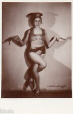 BE060 Carte Photo vintage card RPPC Femme sexy Music-Hall pin-up costume