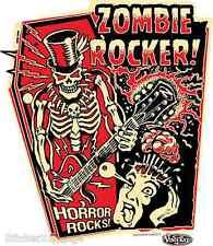 Zombie Rocker Horror Rocks Sticker Decal Vince Ray VR58