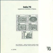 Italia Repubblica 1976 - B.bf.13 - Italia '76