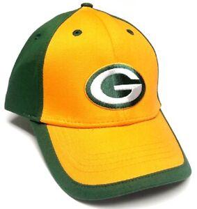 Green Bay Packers NFL Team Apparel Yellow / Green Hat Cap Adult Men's Adjustable